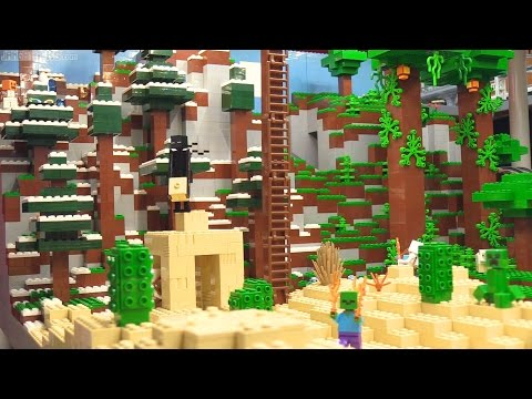Custom LEGO Minecraft display walkthrough