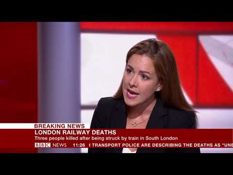 Three killed by train in South London - Amanda Akass reports