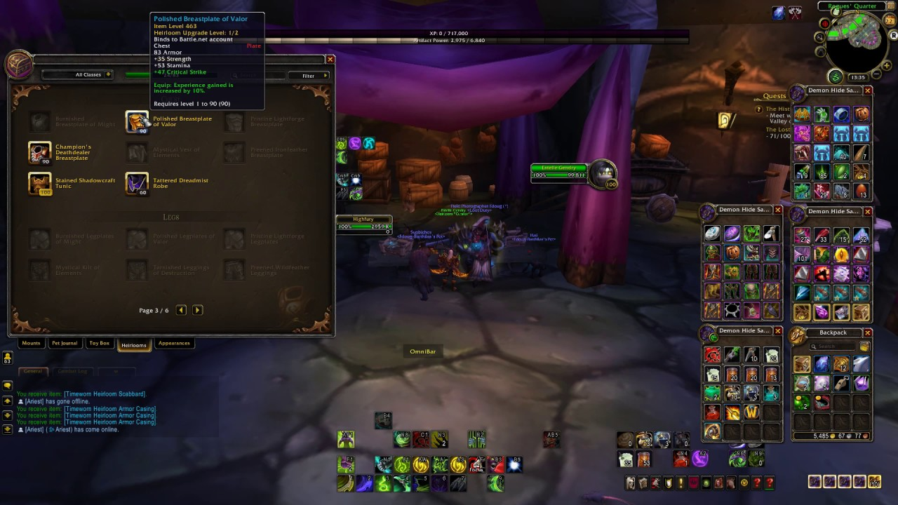 Where is Heirloom Vendor Location (Horde) - WoW Legion ...