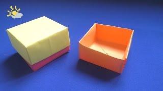 Простая коробочка из бумаги. Как сделать коробочку с крышкой оригами(В этом видео я покажу как сделать коробочку из бумаги всего за пару минут. Складывается очень просто, при..., 2016-10-28T13:47:59.000Z)