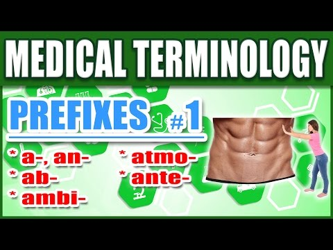 🏥 Medical Terminology Prefixes 1 | Memorize Biology Nursing Words: A, Ab, Ambi, Atmo, Ante