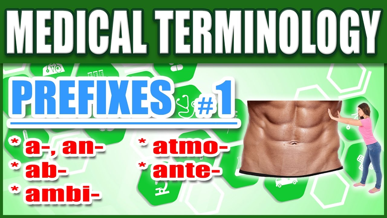 🏥 Medical Terminology Prefixes 1 | Memorize Biology Premed Nursing Words:  A, Ab, Ambi, Atmo, Ante