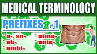 Medical Terminology Prefixes 1 | Memorize Biology Nursing Dictionary Words Made Easy for Beginners