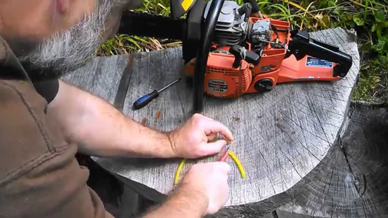 chainsaw fuel tank vent line repair hack
