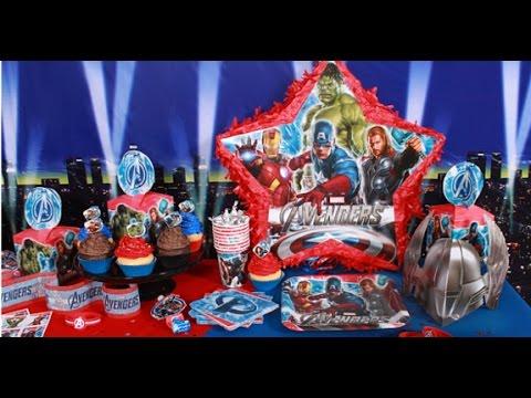 Como Decorar Una Fiesta Infantil De Avengers Youtube