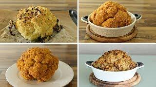 Whole Roasted Cauliflower – 4 Delicious Ways