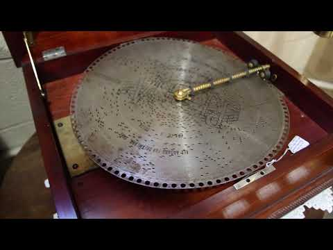 """1890s Regina Music Box - Playing """"All Aboard For Dreamland"""""""