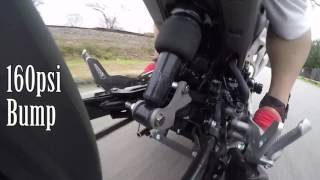 DungStarGrom Air Suspension psi Bounce test Honda Grom bagged MSX125 No Music