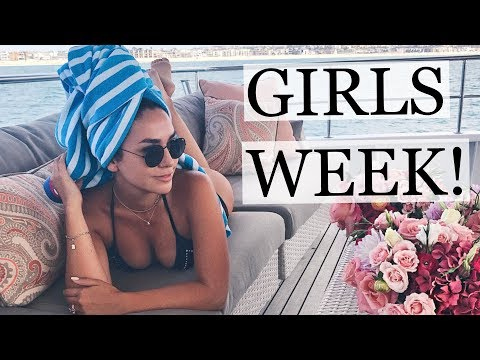 GIRLS WEEK IN LOS ANGELES! PHOTOSHOOT, A YACHT AND A HOTEL GRWM | ALEX AND MICHAEL