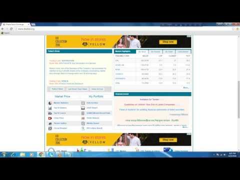 DSE website show buyer &  seller