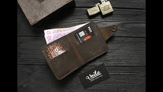Мужской кожаный бумажник ручной работы VOILE vl-mw8-brn. Купить недорого - видео обзор