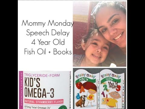 Mommy Monday - Speech Delay 4 Year Old - Fish Oil + Books | NotARichGirl