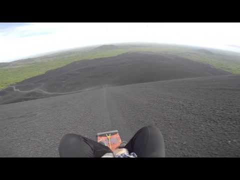 Sandboarding down Cerro Negro