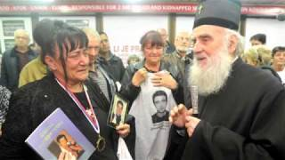 Patriarch of Belgrade visits Families of the Martyred and Kidnapped Orthodox Christians of Kosovo