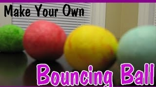 HOW TO MAKE A BOUNCY BALL Easy Kids Science Experiments