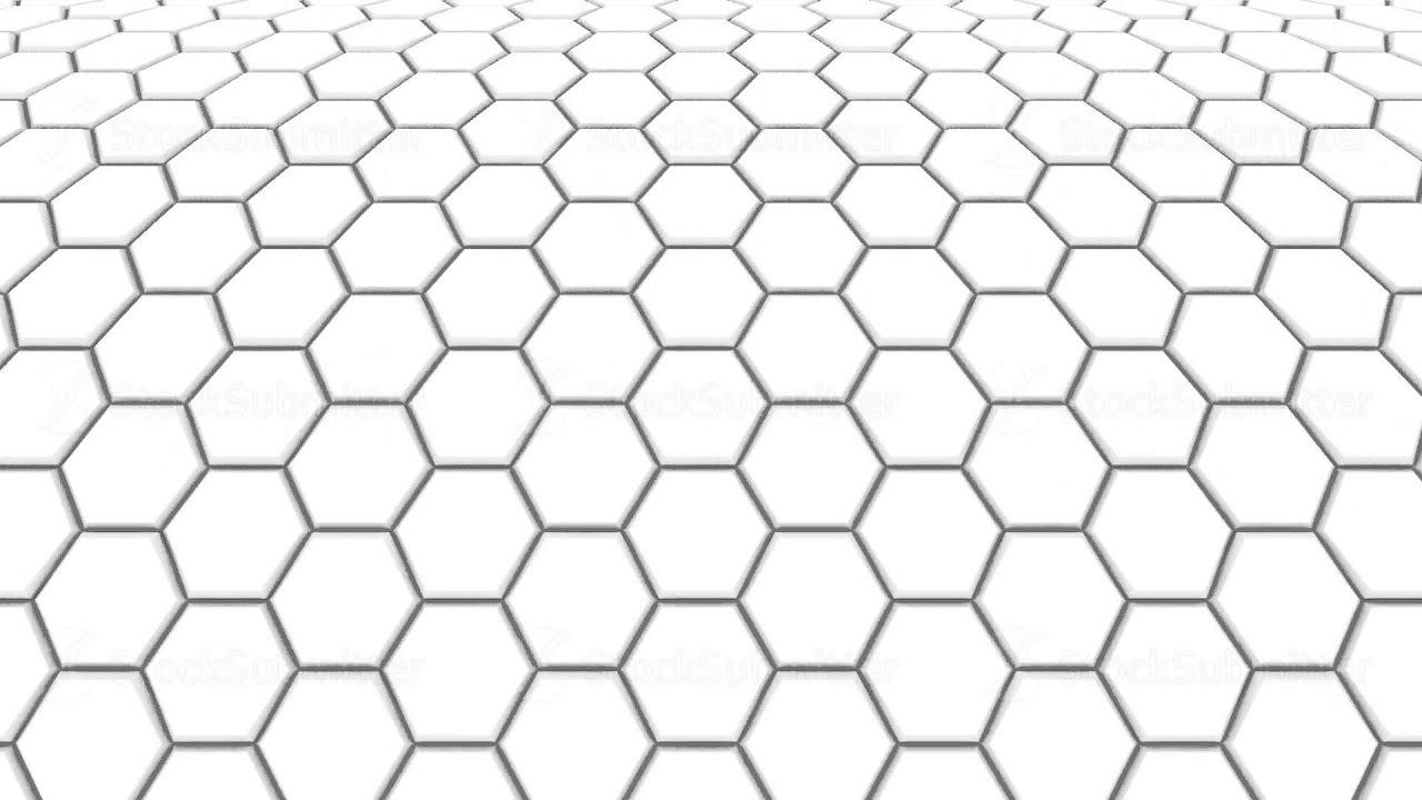 hexagon background loop full hd 3d