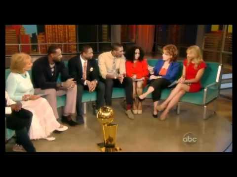 LeBron James, Dwyane Wade & Chris Bosh on The View 2012 NBA champions!