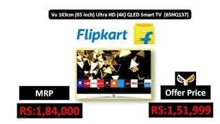 Vu 163cm (65 inch) Ultra HD (4K) QLED Smart TV (65HQ137)