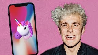 Jake Paul tries Apple's Animoji for the iPhone X