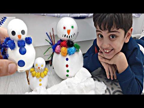 Efe evin içinde kardan adam yaptı. صنعت EFE رجل ثلج في المنزل