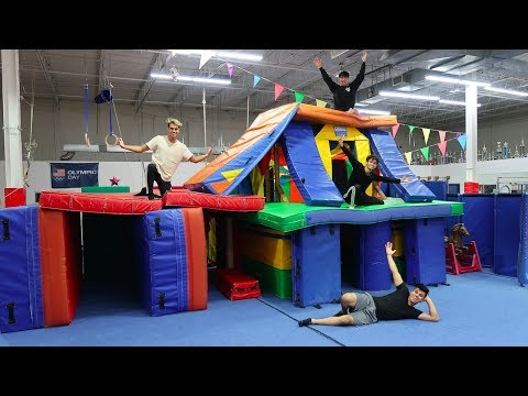 we-made-a-giant-gymnastics-fort-mansion!-(insane)