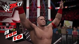 Repeat youtube video Crushing Finishers Through the Tables!: WWE 2K17 Top 10