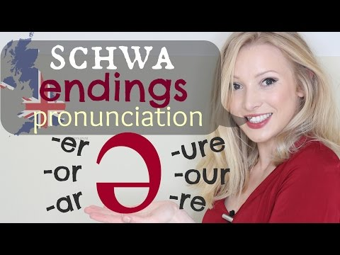 The Schwa /ə/ Sound - Endings British Pronunciation & Spelling Tips   -er -ar -or -our -ure -re