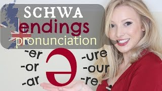The Schwa  Sound - Endings British Pronunciation amp Spelling Tips  -er -ar -or -our -ure -re