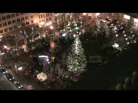 christmas tree lighting portland oregon pioneer square attempted