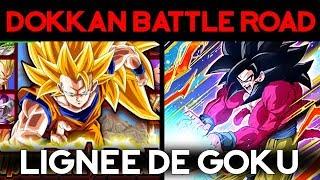La lignée de Goku SSJ4 LR en BattleRoad Super ! DOKKAN