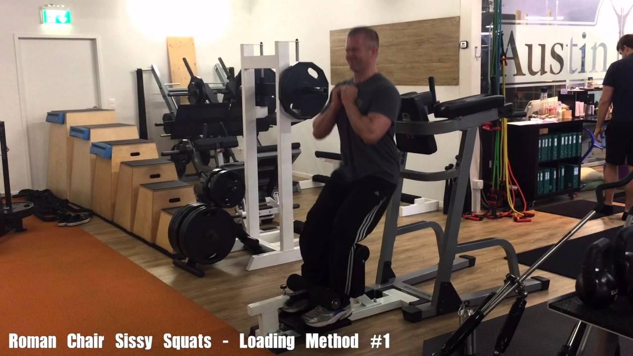 Roman Chair Sissy Squats - Deeper & Roman Chair Sissy Squats - Deeper - YouTube