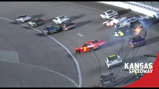 Big Wreck | NASCAR Xfinity Series Extended Highlights from Kansas Speedway