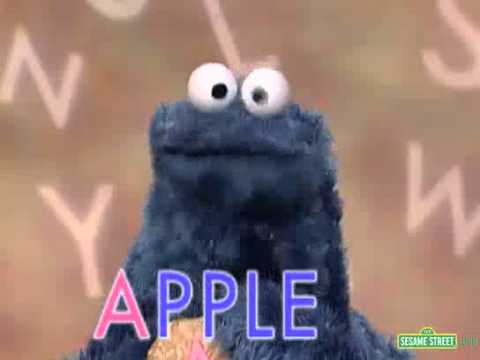 sesame street letter of the day sesame cookie s letter of the day a 10711 | hqdefault