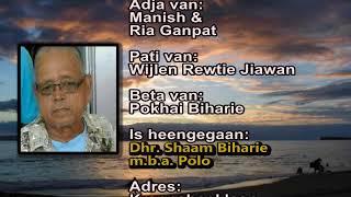 Overleden Shaam Biharie