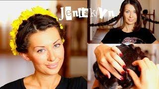 Прическа #10 Быстрая прическа Модная Коса ЦВЕТЫ в волосах JeniaKyn
