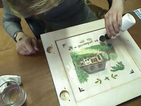 Decoupage cupboards door & Decoupage cupboards door - YouTube