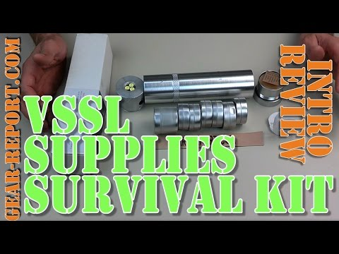 VSSL Supplies Survival Kit in an Aluminum Tube Review – Gear-Report.com: