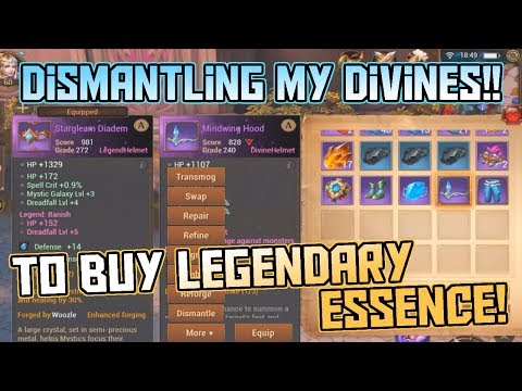 Dismantling My Divine Items to Buy Legendary Essence!! | Crusaders of Light