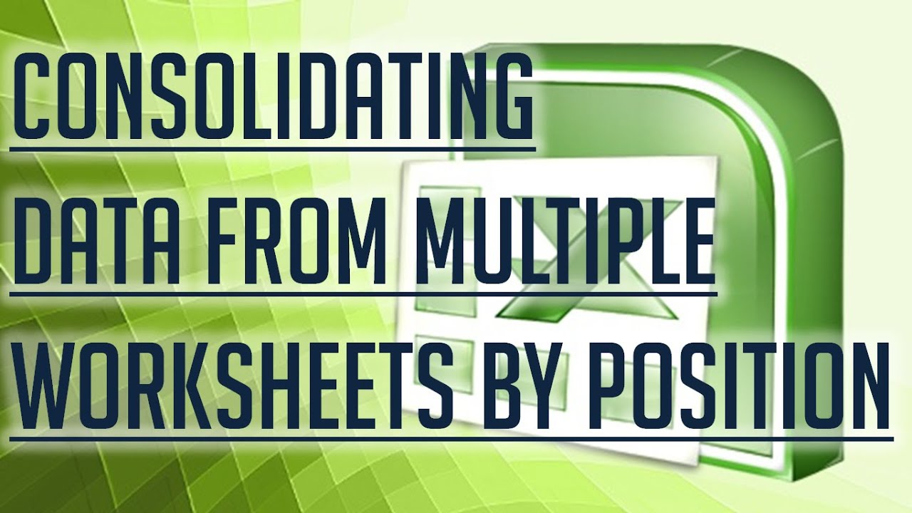 Free Excel Tutorial Consolidating Data From Multiple