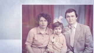 Шикарное слайд-шоу из фотографий под песню для папы на юбилей от дочерей