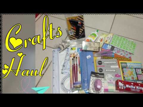 CRAFTS HAUL: National Bookstore/SM(supplies)Department Store/Online Shop