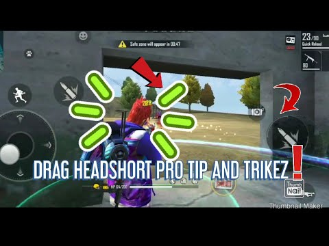 Drag headshort tips and tricks || freefire how to short a head by drag