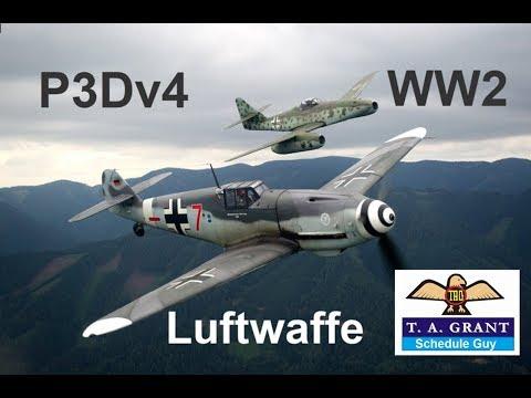 P3Dv4 World War 2 Luftwaffe Aircraft