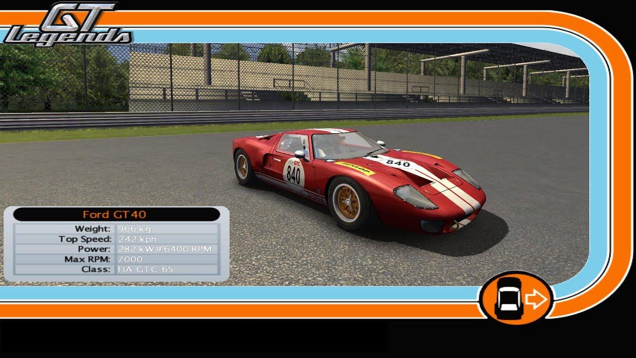 Gt Legends Ford Gt Monza Gp Preview Test Lap