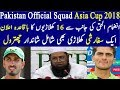 Pakistan Announced 16 Members ODI Team Squad For Asia Cup 2018 By Chief Selector Inzmam ul Haq