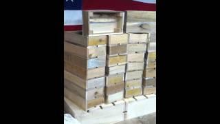 Oak Wood Crate Bread Baskets