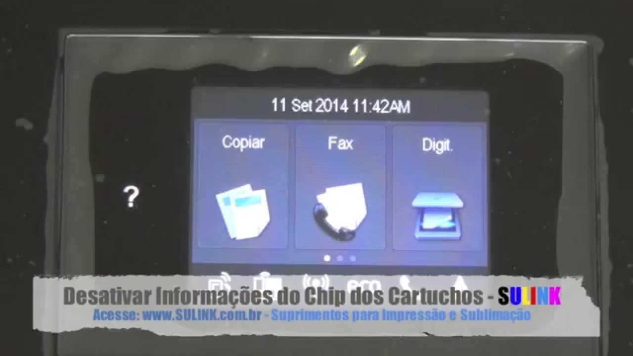 Desativar Informa 231 227 O Do Chip Nas Hp Pro 8610 8620 8630