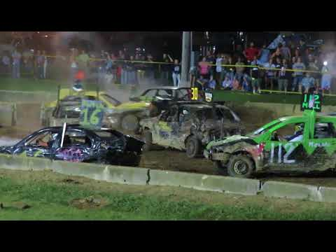 2018 Geauga County Fair Demolition Derby - Heat 8