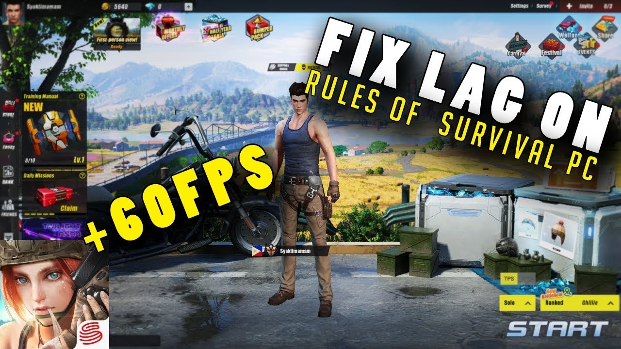 play rules of survival without lag