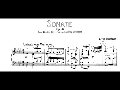 "Beethoven: Sonata No.12 in A-flat Major,  Op.26, ""Funeral March"" (Lewis, Kovacevich, Buchbinder)"